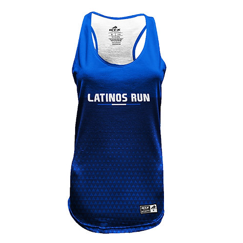Latinos Run Ladies Printed Tank