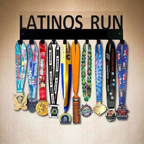 LATINOS RUN 10 HOOK MEDAL RACK