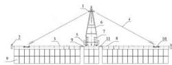 Схема расположения узлов бороны БГЗ Буран