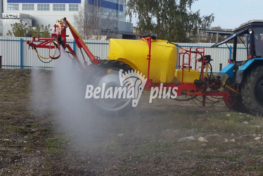 Процесс опрыскивания Belama-1