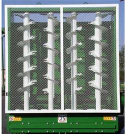 Четырехвальцовый вертикальный разбрасывающий адаптер с ножами