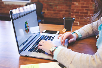 Graphic Designer Working