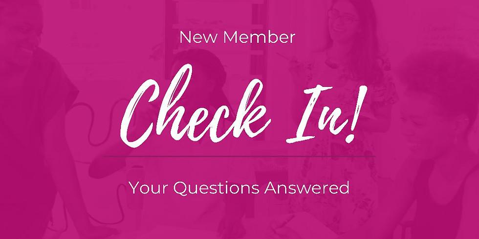 New Member Check-in