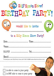 Silly Simon Show Party Invites
