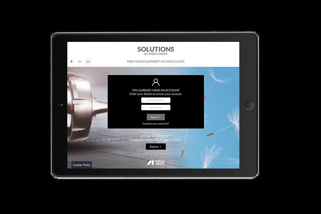"""Configurateur """"Solutions"""" by Anest Iwata, trouvez votre équipement en quelques clics, version anglaise"""