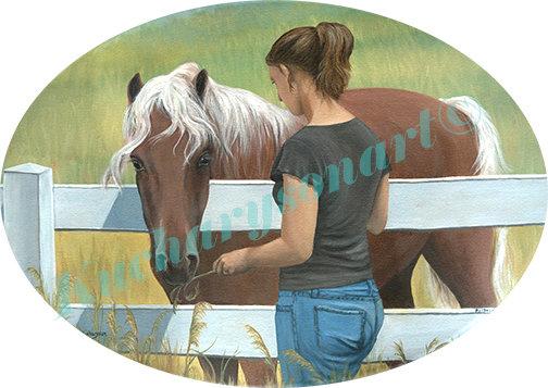 "Syd & Horse-8"" X 10"" print"