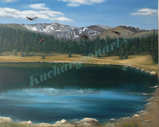 "Colorado Rockies-Commission 16"" X 20"""