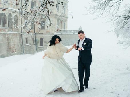 Quelques idées pour vous marier en hiver ..