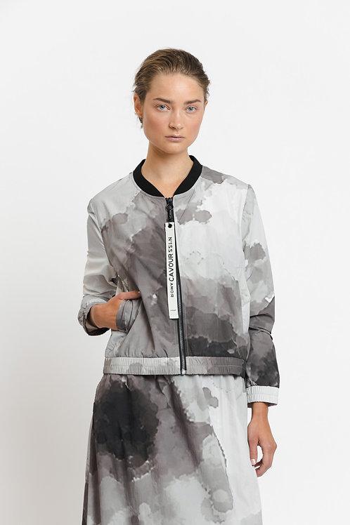 """Frances """"Pixel flower """" Nylon jacket"""