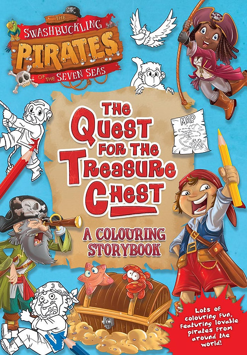 The Quest for the Treasure Chest, A Colouring Storybook