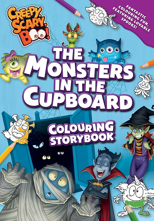The Monsters in the Cupboard Colouring Storybook