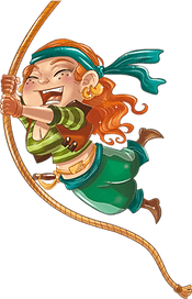 Awesome Jenny swings heroically in The Swashbuckling Pirates of the Seven Seas