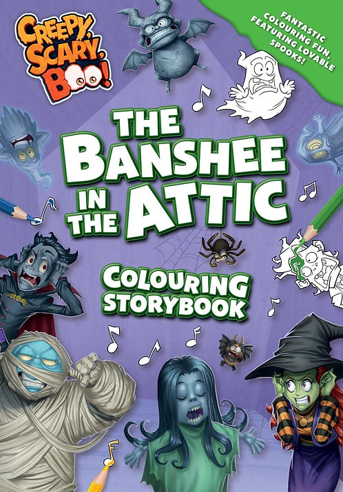 The Banshee in the Attic Colouring Storybook