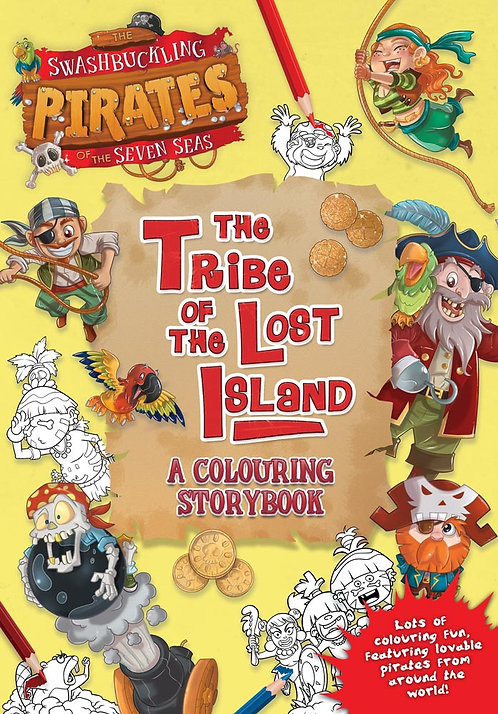 The Tribe of Lost Island, A Colouring Storybook