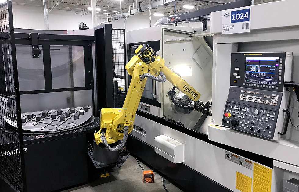 Robotic integration with CNC machining
