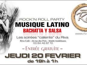 # Jeudi 20 Février 2020, soirée Rock 'N' Roll - Latino ! # - Riva Café - 20/02/2020