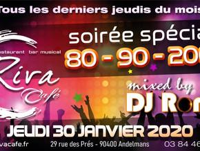 # Soirées Années 80, 90, 2000 ! # - Riva Café - 30/01/2020