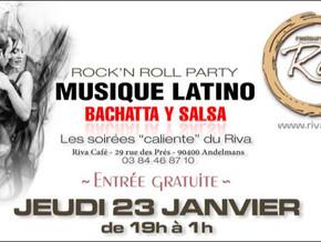 # Jeudi 23 Janvier 2020, soirée Rock 'N' Roll - Latino ! # - Riva Café - 23/01/2020