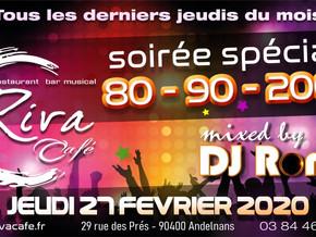 # Soirées Années 80, 90, 2000 ! # - Riva Café - 27/02/2020