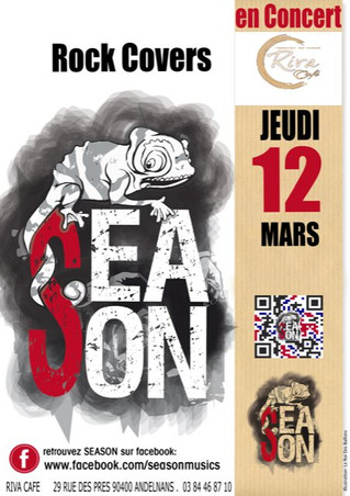 # Jeudi 12 Mars 2020, concert du groupe Season ! # - Riva Café - 12/03/2020