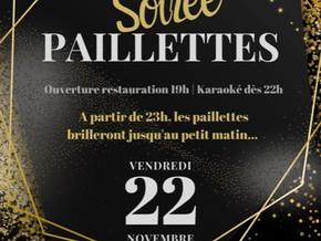# Vendredi 22 Novembre 2019, soirée Paillettes ! # - Riva Café - 22/11/2019