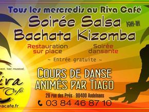 # Mercredi 11 Mars, cours et soirée Salsa ! # - Riva Café - 11/03/2020