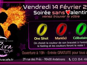 # Soirée SANS Valentin ! # - Riva Café - 14/02/2020