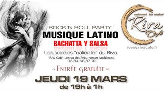 # Jeudi 19 Mars 2020, soirée Rock 'N' Roll - Latino ! # - Riva Café - 19/03/2020
