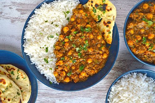 Chick Pea Curry and Rice