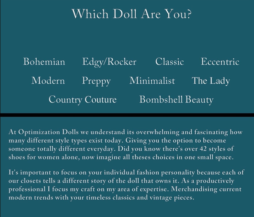 Which Doll Are You!