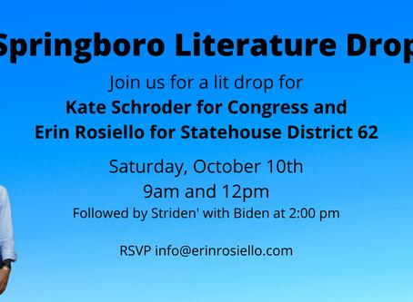 Join #TeamRosiello for no-contact lit-drops in Springboro, Ohio!