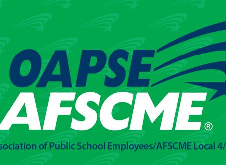 Rosiello Endorsed by Ohio Association of Public School Employees! OAPSE/AFSCME Local 4/AFL-CIO