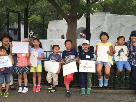 楽しかった上野動物園写生会