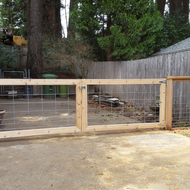 welded wire gates boxed in cedar