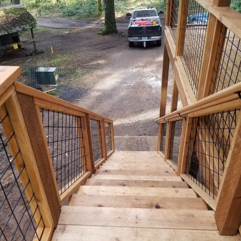 16 steps to gground level.