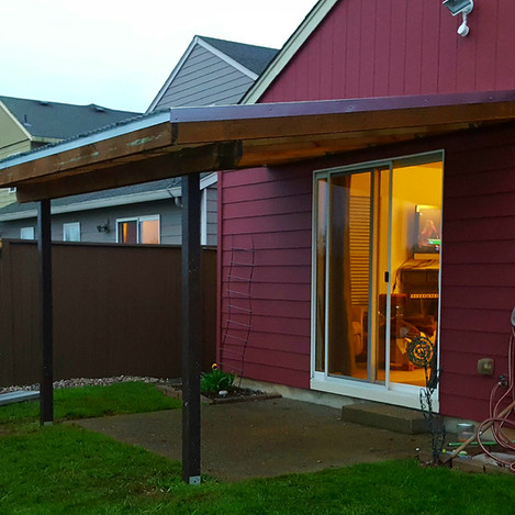 Built to fit patio cover