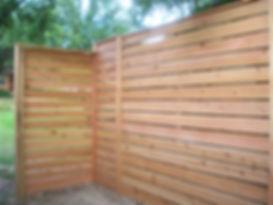 horizontal,cedar,wood,fence