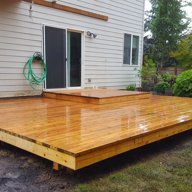 split level deck