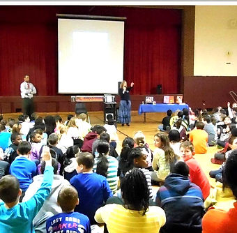 Dawn Krohberger, self-esteem in children, helping children overcome fears, Eric VanTuyl, school assembly