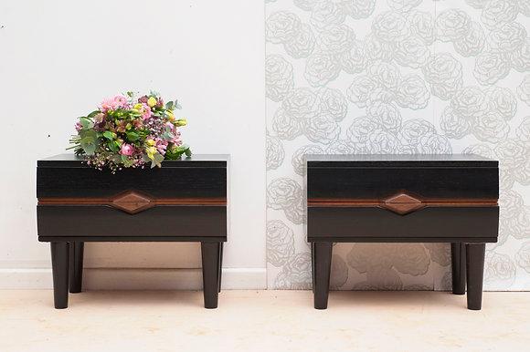 Paire de tables de nuit «Marilyn&Yves»