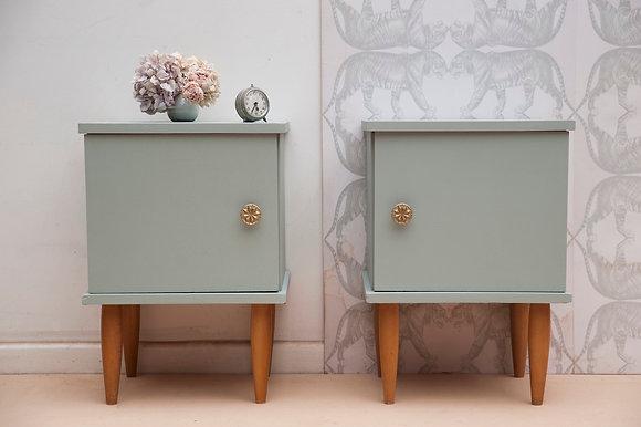 Paire de tables de nuit «Cecile&Michel»