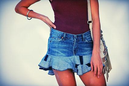 DBC 'It's So Kimmie' Denim Mini Skirt.jp