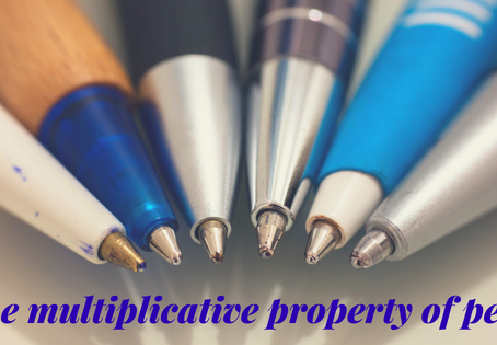 The Multiplicative property of pens