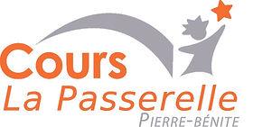 Logo-LaPasserelle Orange et Gris Pierre