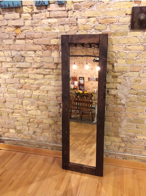 Full Length Mirror with Rustic Border