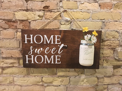 Mason Jar Greeting Sign