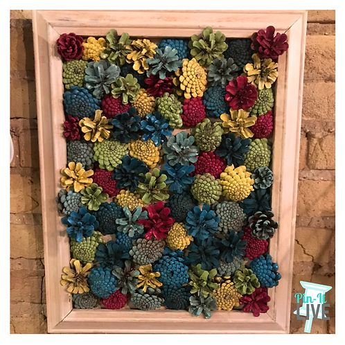 Colorful Pinecone Succulent Frame