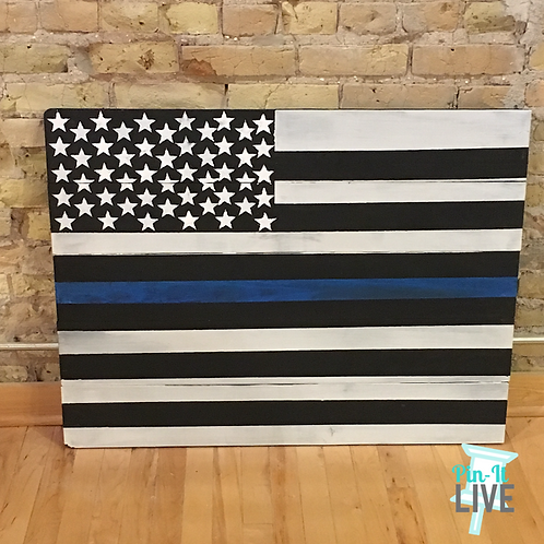 Blue Line Large Flag