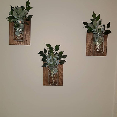 Mason Jar Wall Flowers