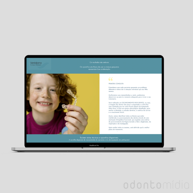 Site One Page Veridiana - Invisalign